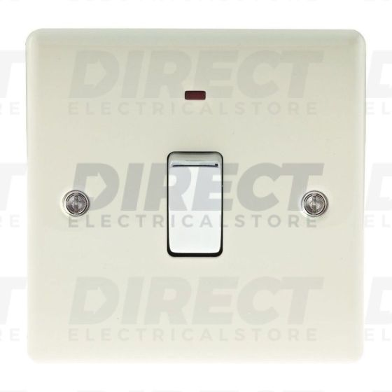 BG Electrical NCR31 Metal Cream 20A Double Pole Switch with Neon