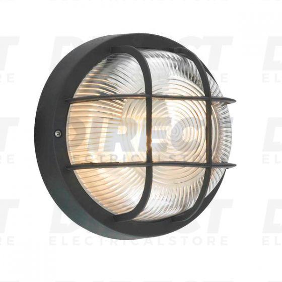 Forum Lighting Coast Black Polycarbonate Glass Zinc Mars Outdoor Bulkhead Light Ip44 Bulkheads Direct Electrical